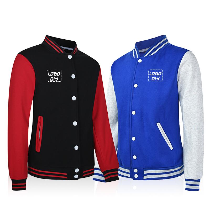 New men winter unisex button down college letterman bomber jackets custom baseball varsity jacket