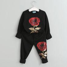 Свитер и штаны для девочки Bear Leader, осенний комплект, свитер с мультяшным рисунком, для возраста от 3 до 7 лет, 2019(Китай)