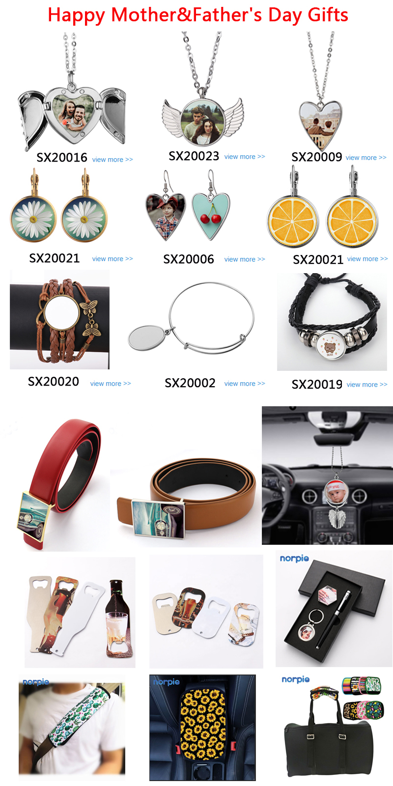 Promotion Jewelry Sublimation Bangles Blank Double-sided Metal Bracelets for Mother's Day