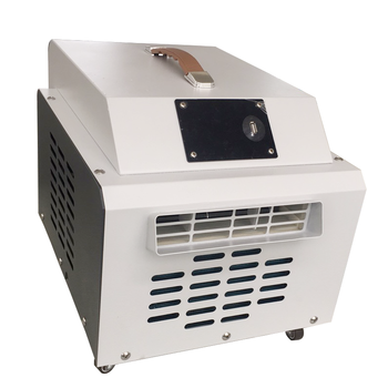 Chinese manufacturers independently designed and produced small white mobile air conditioners