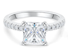 20;Platinum;square diamond ring