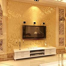 Экологичная Нетканая Роскошная Современная Настенная бумага для стен 3 D, спальни, гостиной, дивана, телевизора, фона в полоску, настенная бу...(Китай)