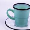 Dark blue borocilicate glass cup