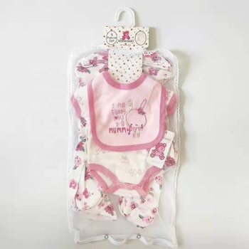 5 pcs newborn baby clothes set gift romper jumpsuit bodyjump bib baby wears newborn gift sets from china 100 % cotton boutiques