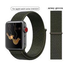 Классический плетеный нейлоновый ремешок для Apple Watch Series 4/3/2/1, водонепроницаемый ремешок для часов, 40, 44 мм, ремешок для iWatch 38, 42 мм(Китай)