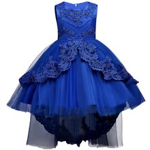 2020 распродажа, Элегантное свадебное платье с цветочным узором для девочек праздничное платье принцессы, длинное кружевное фатиновое плать...(Китай)