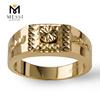 18k solid gold ring for men