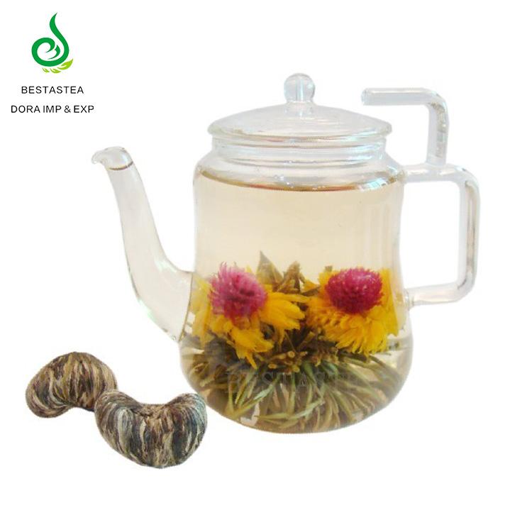 Chinese Custom Flavor Best Handmade Lily Flavored Blooming Tea Health Flower Blooming Tea Ball - 4uTea   4uTea.com