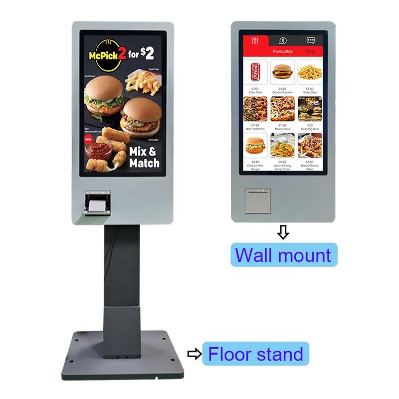 32 дюйма ресторанов фаст-фуда заказа и оплаты киоск самообслуживания терминал POS машина купюры