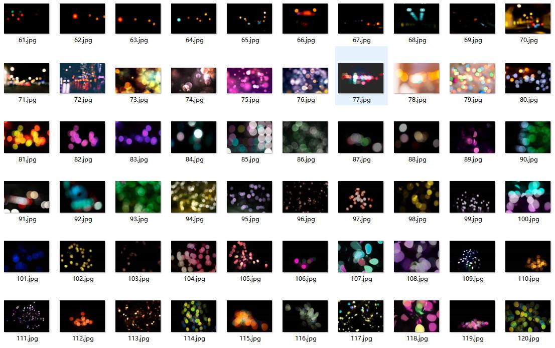 平面素材-220张高清散景光斑叠加合成素材Bokeh Overlays(4)