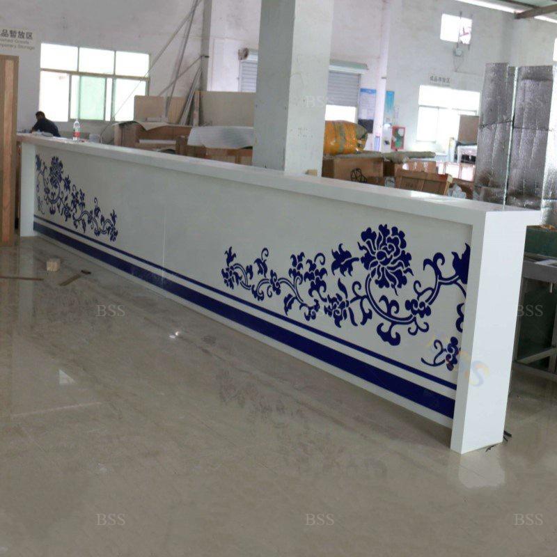 Сборная Мебель для оформления отеля, белый искусственный мрамор, корийский камень, каннальд, Ресторан, Бар