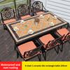 15-6 барный стул 1 керамическая плитка прямоугольный стол 185 см
