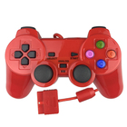 KINGSTAR Wholesale Asymmetric motor vibration PS2 Colorful 1.8m Wired Game Controller Gamepad