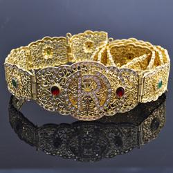 Марокканские брендовые новые ремни Caftan роскошные ремни со стразами Арабская Мода золотые и серебряные Свадебные ремни для женщин