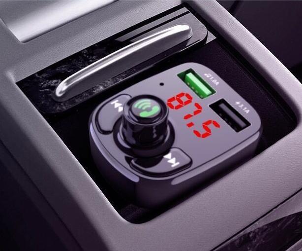 Wireless BT 5.0 Handsfree Car Kit FM Transmitter MP3 Player Dual USB Charger
