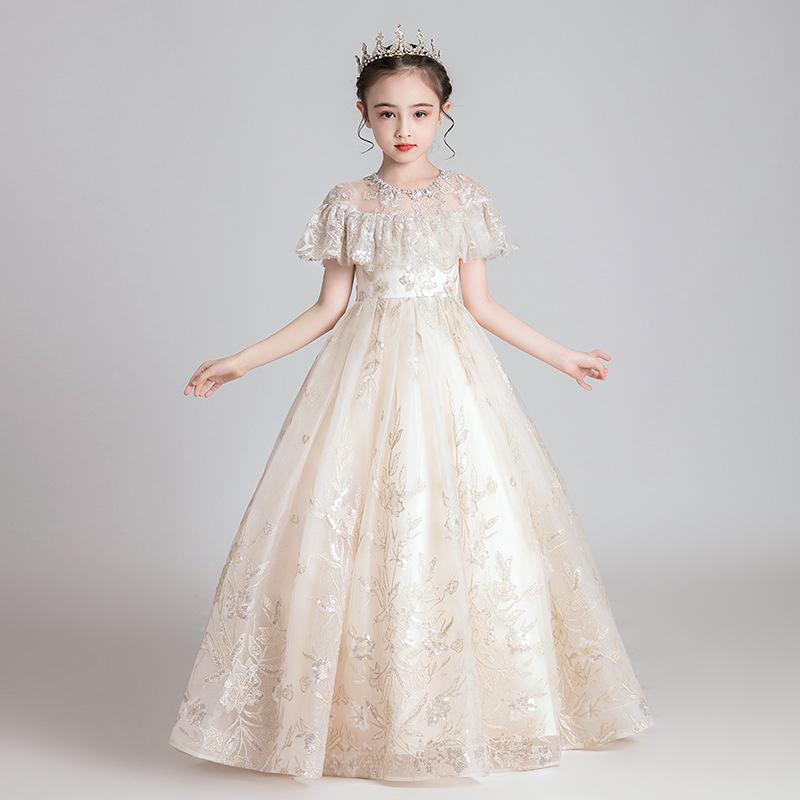 Little Girl White Ballgown Baby Wedding Dress