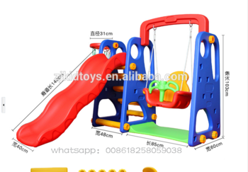 Factory Manufacture Various 2021 Hot Sale Children Pre School Slide Swing Swings And Slides Combo