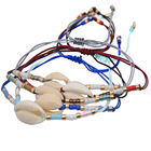Shell Hand-woven Rope Style Real Shell Bracelet Colorful Bead Jewelry Colorful Bohemian Beach Women's Bracelets Bangles