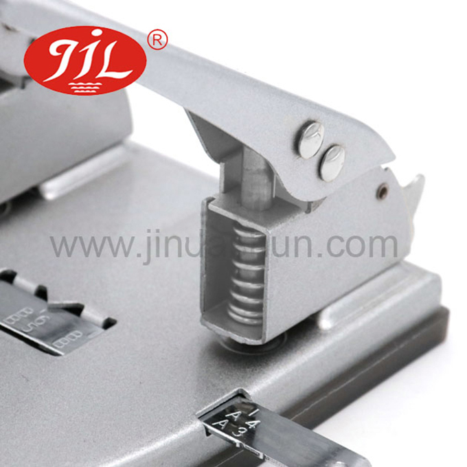 Office desktop 30 sheets 80mm manual paper puncher metal 2 hole paper punch