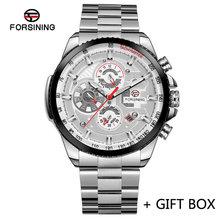FORSINING автоматические механические мужские наручные часы, военные спортивные мужские часы лучший бренд класса люкс полностью стальные водо...(Китай)