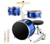 Dark Blue 3 pic drum set