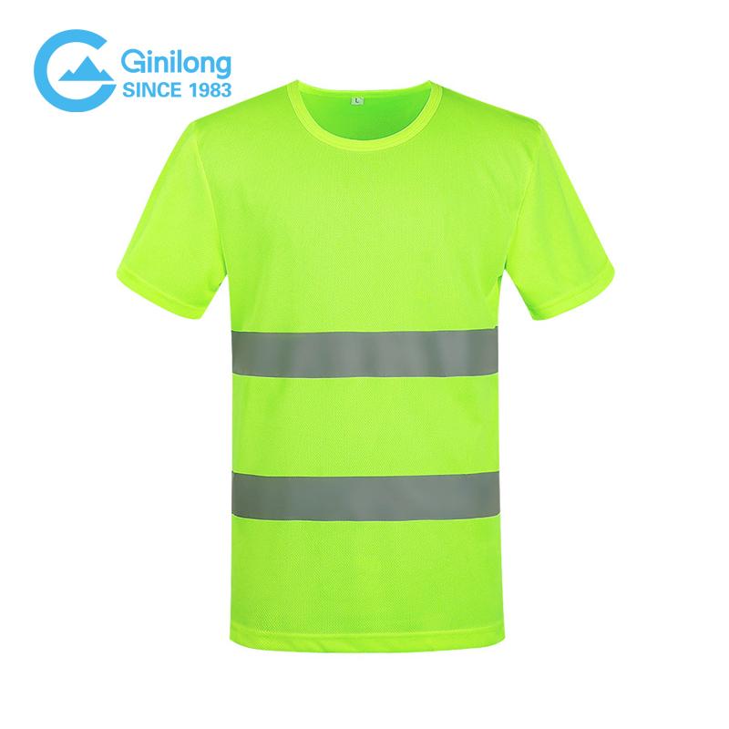 OEM ODM оптовая продажа безопасная рабочая одежда светоотражающая одежда желтая дешевая безопасная светоотражающая рубашка поло ginilong