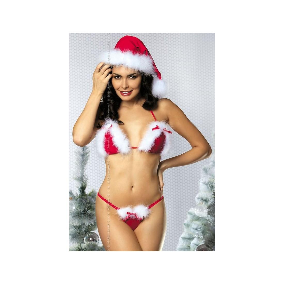 Sexy lingerie women three point bikini gauze christmas girl women underwear lingerie hollow sexy temptat women underwear sexy