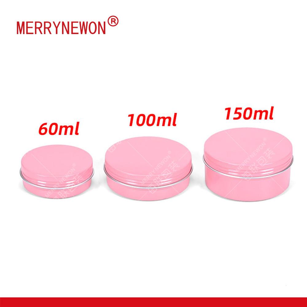 60g 100g 150g candy gift aluminum metal pink jar tea tin boxes packaging pink candle jar