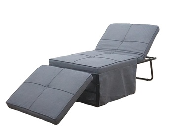 Convertible Chair 4 in 1 Multi-function Folding Ottoman Modern Style Guest Bed with Adjustable Sleeper Small Space Room