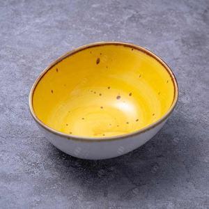 JQY irregular color glaze vintage high temperature hotel restaurant home use ceramic porcelain bowls