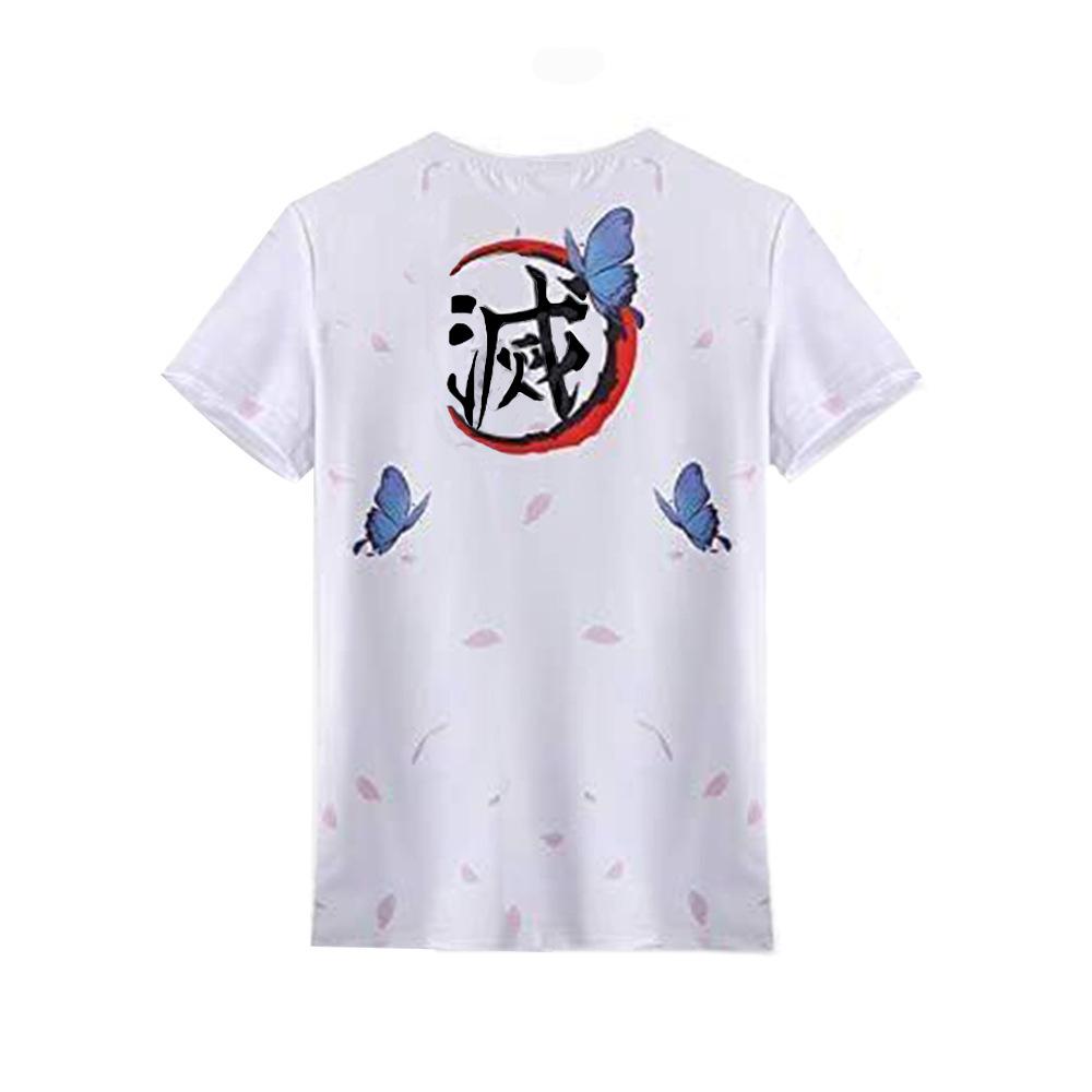 Anime Demon Slayer Blade Fashion Fashion T-shirt Butterfly Ninja Nidouzi Fashion 3D Digital Print T-shirt Coldker