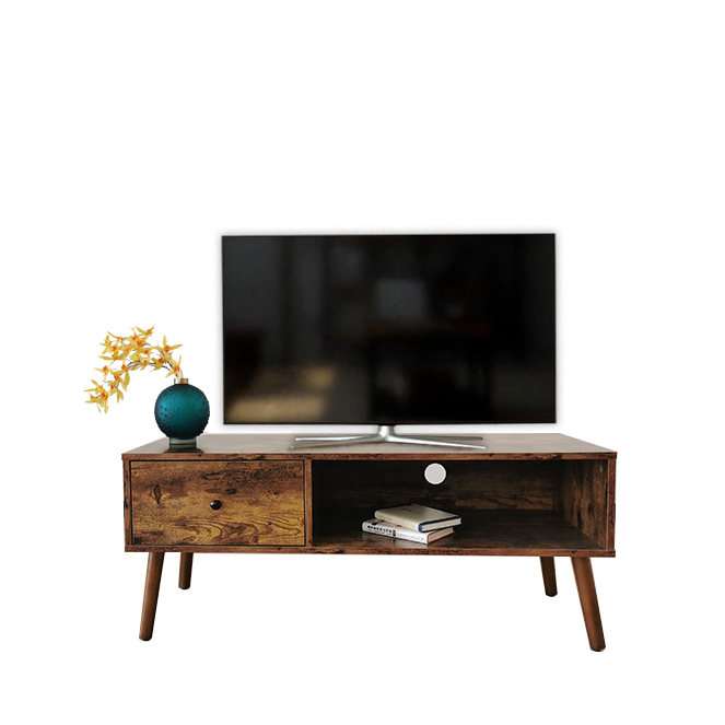 High quality living room furniture wooden coffee table wood TV cabinet stand with drawer