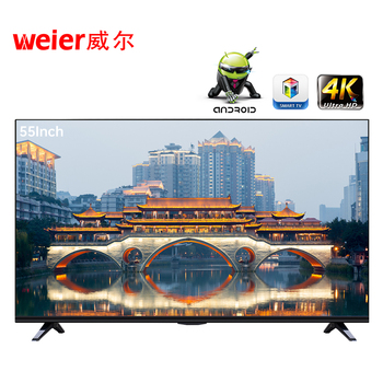 Weier Smart Android LCD LED QLED TV 4K UHD Factory Cheap Flat Screen Televisions HD LCD LED Best smart TV