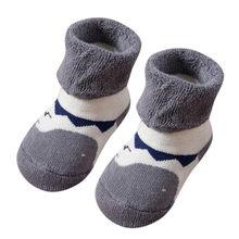 Носки для малышей с рисунком животных детские Нескользящие вязаные теплые носки для маленьких мальчиков и девочек Meias Antiderrapante/Носки для нов...(China)