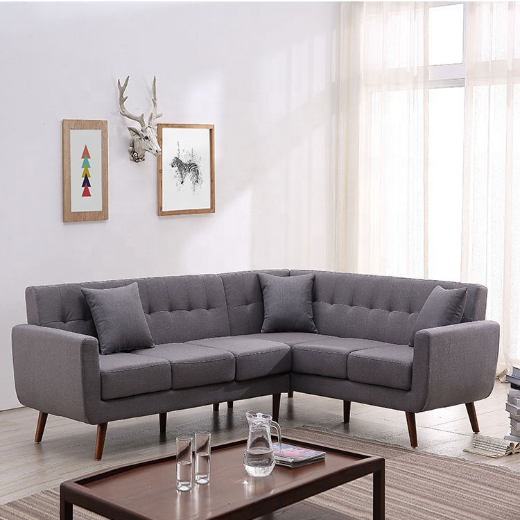 Modern simple design comfortable dark gray sofa sofa living room furniture