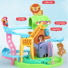 Toys Track Toy Indoor Assembly Building Block Toys Zoo Animal Slide Railway Track Tumbler Playground Race Track Toy Set For Children