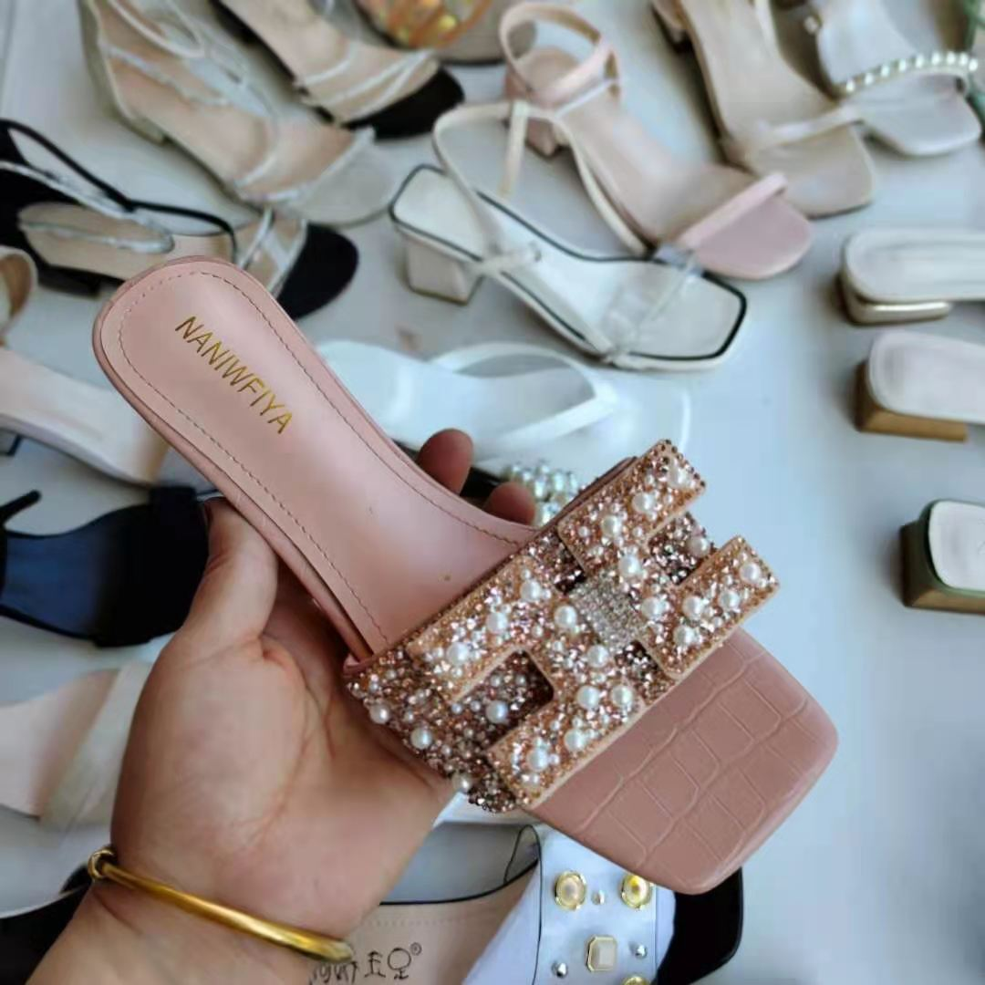 2021 Summer Breathable Heel Sandals Women's shoes fashion mix style new model shoes stock wholesale fashionable middle heels