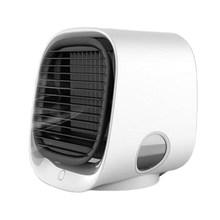 USB мини-вентилятор для охлаждения воздуха, кондиционер с ночным светильник, портативный увлажнитель, настольный воздушный кулер, многофунк...(Китай)