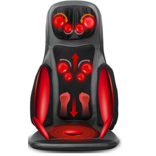 neck back electric 4d full body massage cushion 3d chair seat cushion robotic cushion massage shiatsu back massager