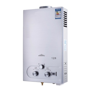 Water Heater 12L LPG Propane Water Heater Gas Tankless Instant Boiler with Shower Head and LCD Display