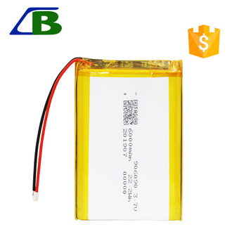 3.7V 6000mAh lipo Li polymer Rechargeable Battery 906090