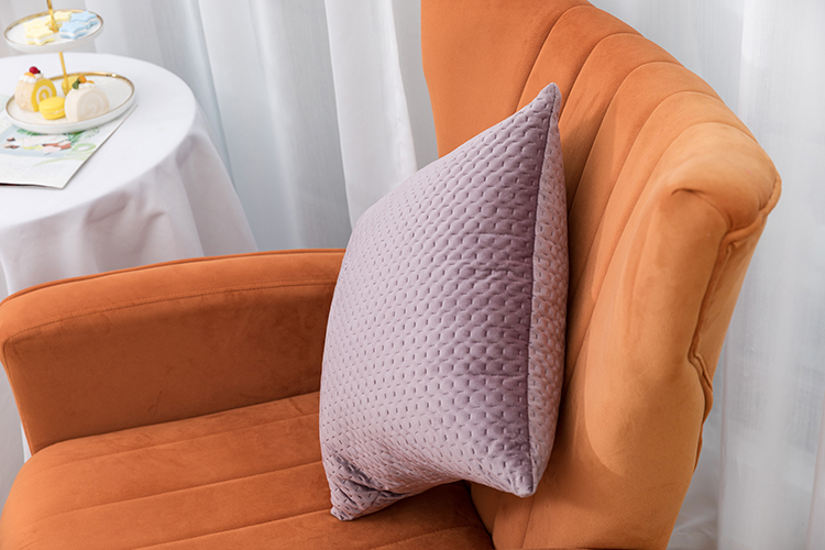 China factory ultrasonic embossing solid color pillow sofa cushion with invisible zipper