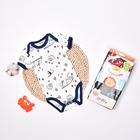 Redkite 5 Pcs Packing Custom Breathable Infanting Clothes 100% Organic Cotton Baby Rompers