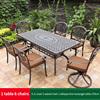 22-4 JL chair 2 swivel chair 1 oblique line table 170cm