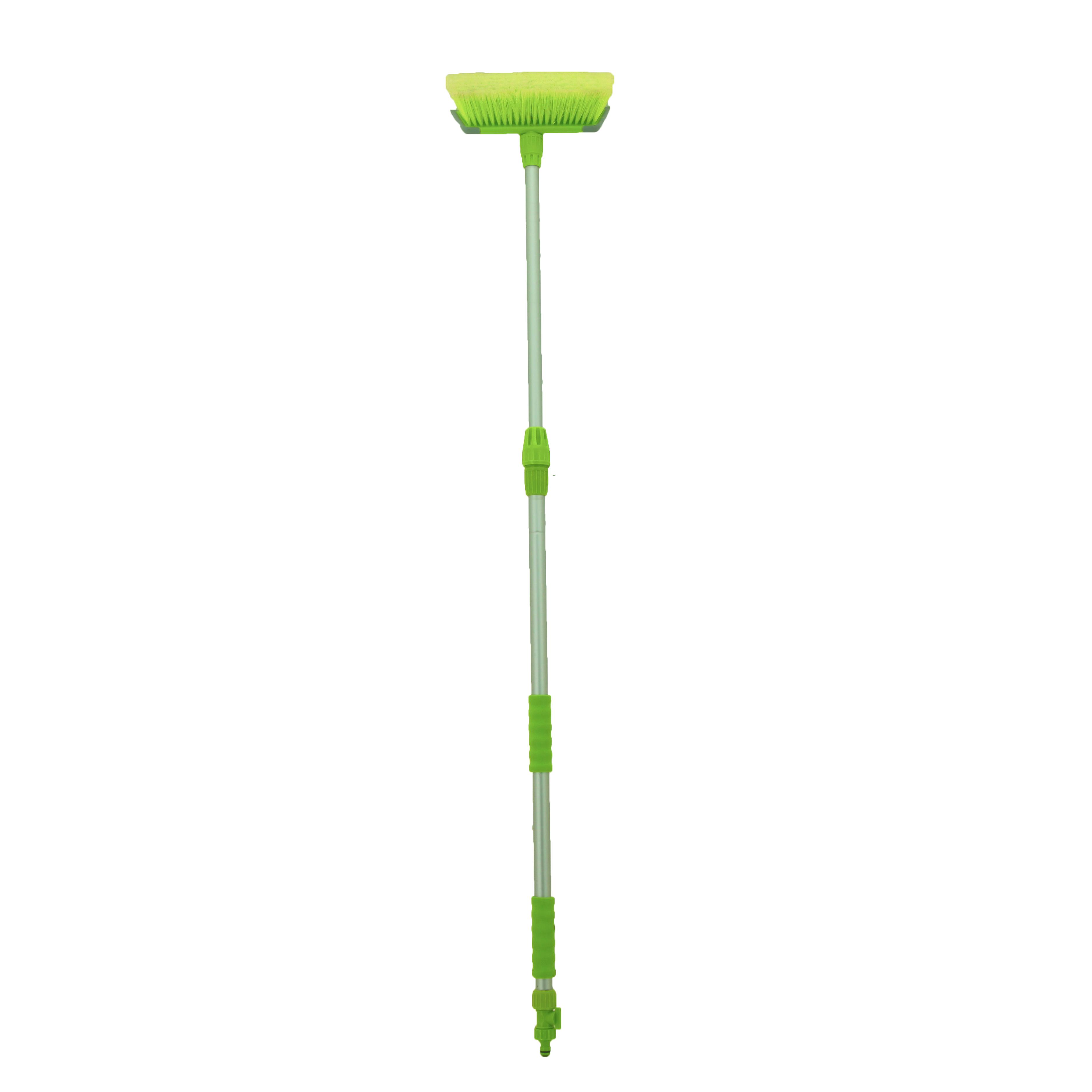 Телескопическая алюминиевая ручка, резиновый переключатель потока воды, щетка для мытья автомобиля, щетка для мытья колес из микрофибры #