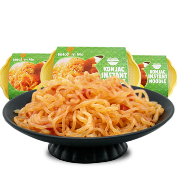Tomato flavor konjac instant noodles keto health products diet konjac food