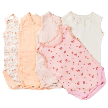 Baby Summer Sleeveless Soft Cotton Baby Romper Customized Size Baby Clothes