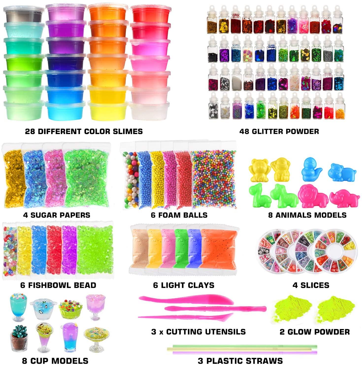 Slime kit for kids diy 126 Pcs DIY Slime Making Kit for Girls Boys
