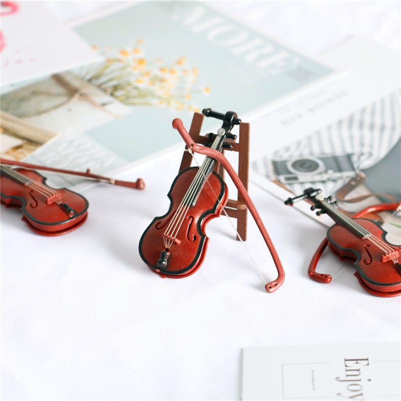 Modelo De Instrumentos Musicales De Violín Para Decoración De Casa De Muñecas Pequeño Minimundo Muñecas Bjd Accesorios Para Grabar Escena 1 6 1 12 Muñecas Aliexpress