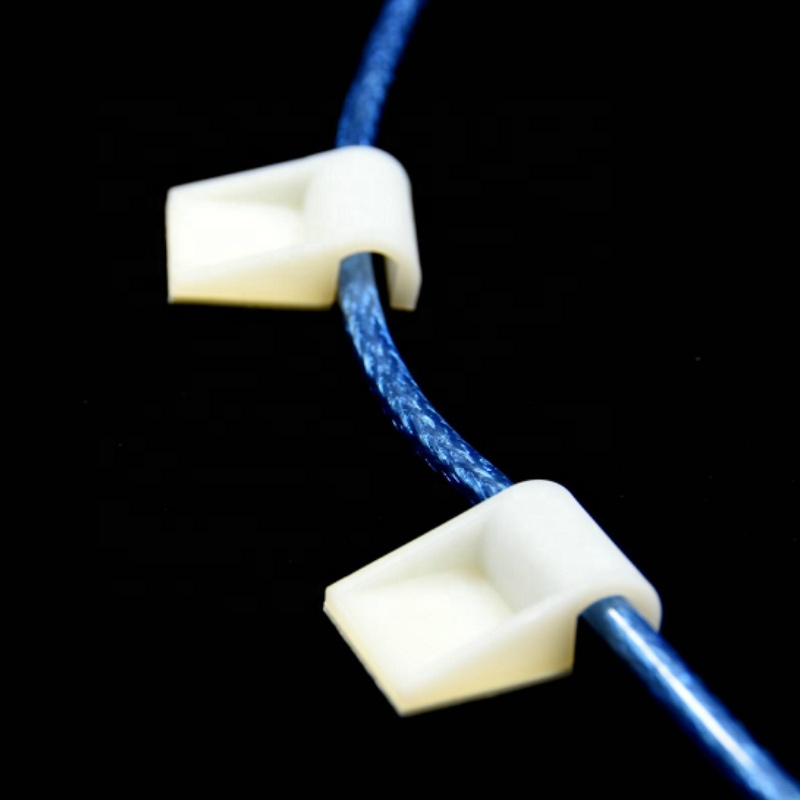 Adjustable Nylon 3M Self Adhesive Cable Clamp Holder Plastic Wire Mounting Clip